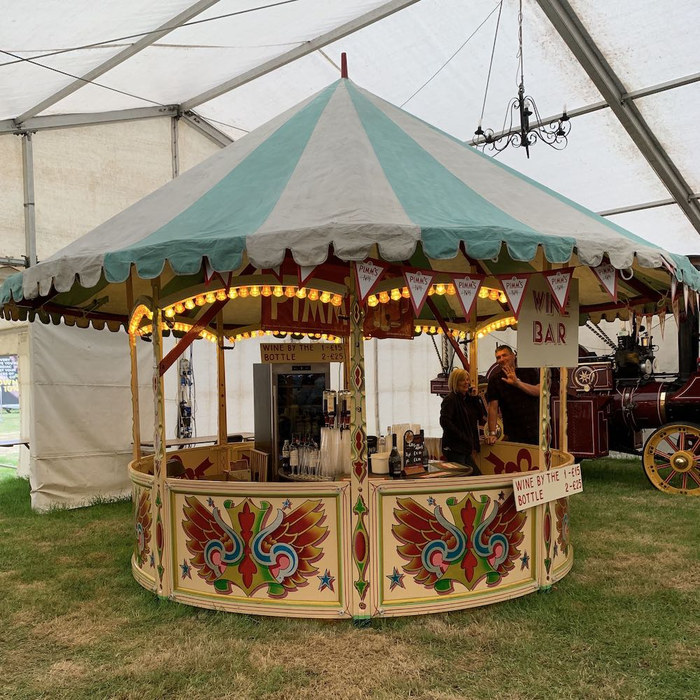 Round Stall Pimms Bar Event Hire